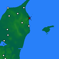 Nearby Forecast Locations - Frederikshavn - Map