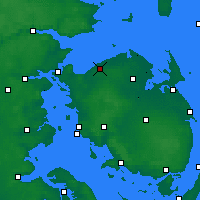 Nearby Forecast Locations - Bogense - Map