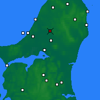 Nearby Forecast Locations - Brønderslev - Map