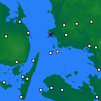 Nearby Forecast Locations - Korsør - Map