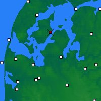 Nearby Forecast Locations - Nykøbing Mors - Map