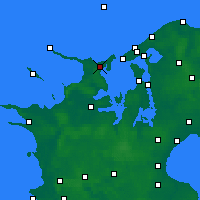 Nearby Forecast Locations - Nykøbing Sjælland - Map
