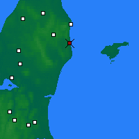 Nearby Forecast Locations - Sæby - Map