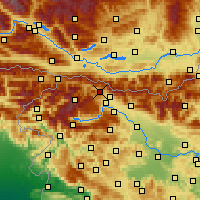 Nearby Forecast Locations - Jesenice - Map