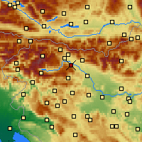 Nearby Forecast Locations - Radovljica - Map