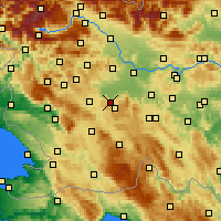 Nearby Forecast Locations - Borovnica - Map