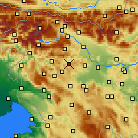 Nearby Forecast Locations - Gorenja Vas - Map