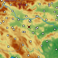 Nearby Forecast Locations - Ivančna Gorica - Map