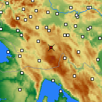Nearby Forecast Locations - Loška Dolina - Map