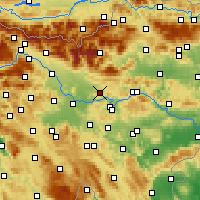 Nearby Forecast Locations - Moravče - Map