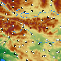 Nearby Forecast Locations - Tržič - Map