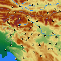 Nearby Forecast Locations - Železniki - Map