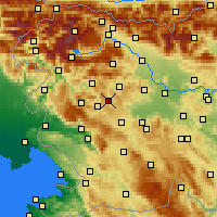 Nearby Forecast Locations - Žiri - Map