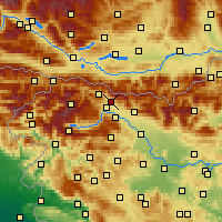 Nearby Forecast Locations - Žirovnica - Map