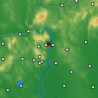 Nearby Forecast Locations - Szentendre - Map