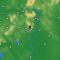 Nearby Forecast Locations - Budakeszi - Map