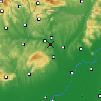 Nearby Forecast Locations - Sajószentpéter - Map