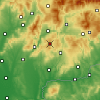 Nearby Forecast Locations - Banská Štiavnica - Map