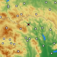 Nearby Forecast Locations - Bardejov - Map