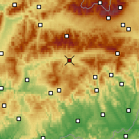 Nearby Forecast Locations - Brezno - Map
