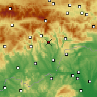 Nearby Forecast Locations - Jelšava - Map