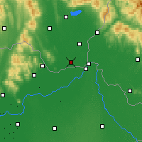 Nearby Forecast Locations - Kráľovský Chlmec - Map