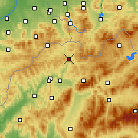 Nearby Forecast Locations - Krásno nad Kysucou - Map