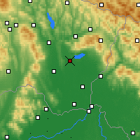 Nearby Forecast Locations - Michalovce - Map