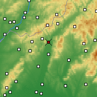 Nearby Forecast Locations - Nové Mesto nad Váhom - Map