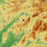 Nearby Forecast Locations - Rajec - Map