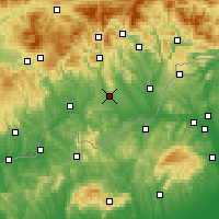 Nearby Forecast Locations - Rimavská Sobota - Map