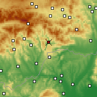 Nearby Forecast Locations - Rožňava - Map
