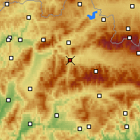 Nearby Forecast Locations - Ružomberok - Map