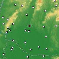 Nearby Forecast Locations - Sereď - Map
