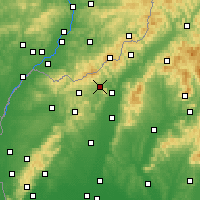 Nearby Forecast Locations - Stará Turá - Map