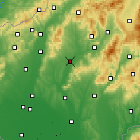 Nearby Forecast Locations - Topoľčany - Map