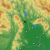 Nearby Forecast Locations - Vranov nad Topľou - Map