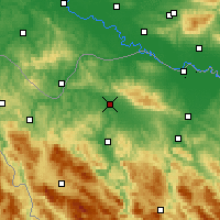 Nearby Forecast Locations - Prijedor - Map
