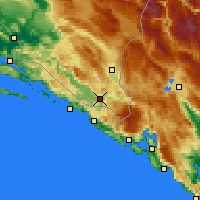 Nearby Forecast Locations - Trebinje - Map