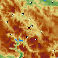 Nearby Forecast Locations - Kiseljak - Map