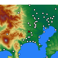Nearby Forecast Locations - Sagamihara - Map