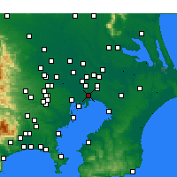 Nearby Forecast Locations - Ichikawa - Map