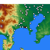 Nearby Forecast Locations - Fujisawa - Map