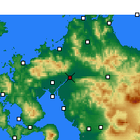 Nearby Forecast Locations - Kurume - Map
