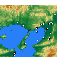Nearby Forecast Locations - Akashi - Map