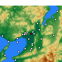Nearby Forecast Locations - Ibaraki - Map