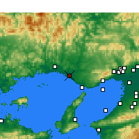 Nearby Forecast Locations - Kakogawa - Map