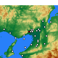 Nearby Forecast Locations - Takarazuka - Map