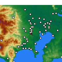 Nearby Forecast Locations - Chōfu - Map