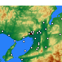 Nearby Forecast Locations - Itami - Map